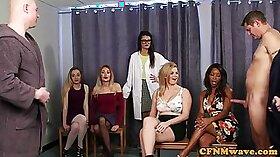 Cumming inside the cfnm sluts pink cunt