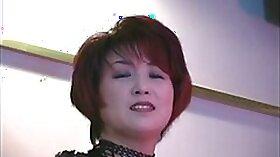 Asian MILF mistress suck her canteen electric