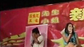 Chinese Girl Dancing in Stockings Nude